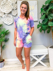 Tara Tie Dye Lounge Wear Short Set