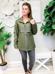 New Englander Rain Jacket by Charles River Apparel  - Olive