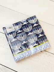 'Festival of Lights Menorah' Blue Lunch Napkins