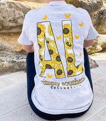 'Alabama' Sunflower Short Sleeve by Simply Southern