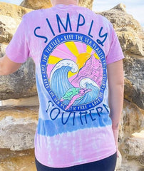 'Save The Turtles' Tie Dye Short Sleeve Tee by Simply Southern