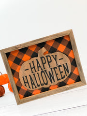 'Happy Halloween' 3D Framed Sign