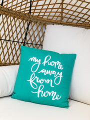 'My Home Away From Home' Throw Pillow by PBK