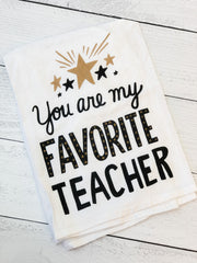 'Favorite Teacher' Kitchen Towel by PBK