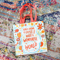 'Wonderful World' Market Tote by PBK