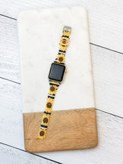 Slim Printed Watch Band by Simply Southern - Sunflowers