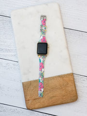 Slim Printed Watch Band by Simply Southern - Hibiscus