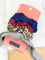 Small Scrunchy Ties by Simply Southern - Leopard