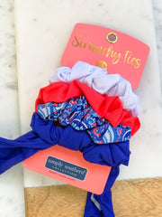 Small Scrunchy Ties by Simply Southern - Paisley
