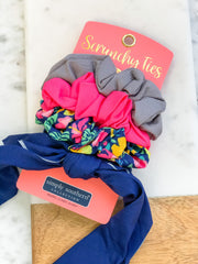 Small Scrunchy Ties by Simply Southern - Tropical