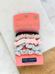 Mini Scrunchy Ties by Simply Southern - Neutral