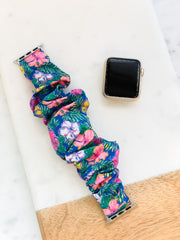 Scrunchy Watch Band by Simply Southern - Hibiscus