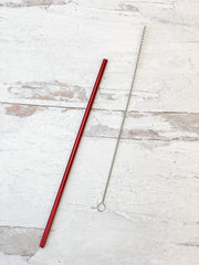 Christmas Reusable Straws - Choice of Color