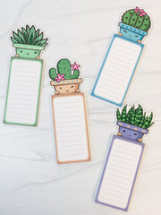 Succulent Magnetic Notepad - Choice of Color