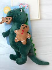 Oh Snap Dinosaur Plush Dog Toy