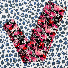 Valentine's Printed Leggings - Love