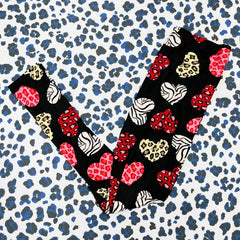 Valentine's Printed Leggings - Wild Hearts