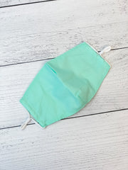 Adult Solid Face Mask - Mint