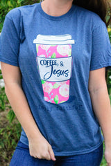 'Coffee & Jesus' Short Sleeve Tee - Simply Faithful by Simply Southern