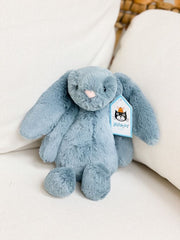 Small Bashful Bunny by Jellycat - Dusky Blue