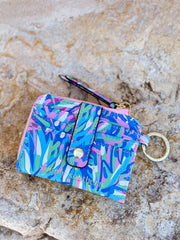 Printed Key ID Wallet by Simply Southern - Leaves