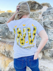 'West Virginia' Sunflower Short Sleeve by Simply Southern
