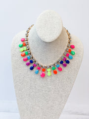 Multi Color Crystal Collar Necklace