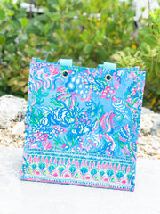 Market Shopper Tote by Lilly Pulitzer - Aqua La Vista