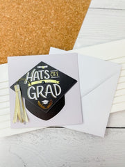 Hats Off Grad Embellished Card