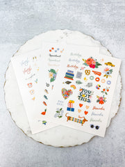 Spring Sticker Sheet Set