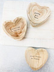 Wood Heart Trinket Trays by Mud Pie