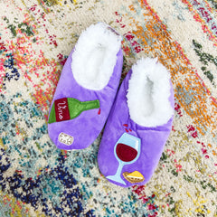 Snoozies! Slippers - Wine O'Clock Purple