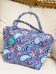 Small Tote Bag Insert by Simply Southern - Paisley