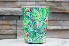 Green Palm Stainless Coffee Tumbler