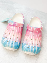 Swirl Tie Dye Printed Clogs by Simply Southern