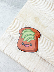Avocado Toast Heavy-Duty Sticker by Squishable