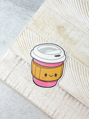 Travel Coffee Cup Heavy-Duty Sticker by Squishable