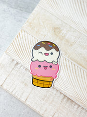 Double Scoop Ice Cream Heavy-Duty Sticker by Squishable