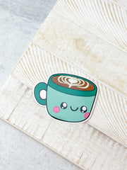 Comfort Food Latte Heavy-Duty Sticker by Squishable