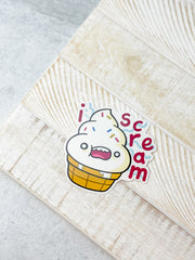 'I Scream' Soft Serve Heavy-Duty Sticker by Squishable