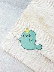 Narwhal Heavy-Duty Sticker by Squishable