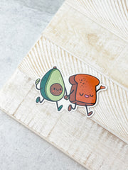 Avocado & Avocado Toast Best Friends Heavy-Duty Sticker by Squishable