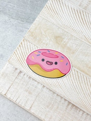 Pink Donut Heavy-Duty Sticker by Squishable