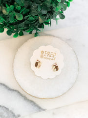 Smiling Christmas Hedgehog Signature Enamel Studs