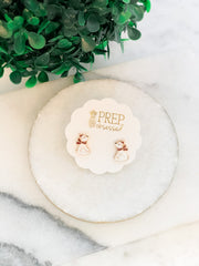 Cozy Polar Bear Signature Enamel Studs