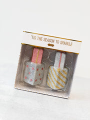 'Tis The Season To Sparkle' Gift Ornament Set by Mud Pie