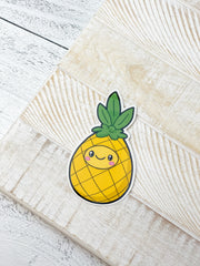 Comfort Food Pineapple Heavy-Duty Sticker by Squishable