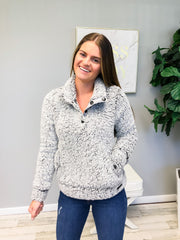 Washed Sherpa Pullover by Simply Southern