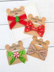 Dog Christmas Bows by Mud Pie - Choice of Style