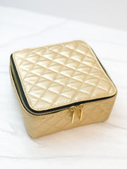 Hidden Gem Jewelry Case by Scout Bags - Quilted Gold